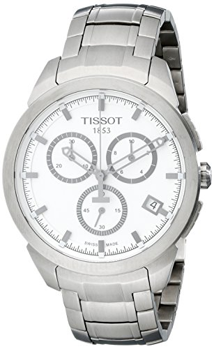 ティソ 腕時計 メンズ T0694174403100 【送料無料】Tissot Men's T0694174403100 Quartz Titanium White Dial Chronograph Watchティソ 腕時計 メンズ T0694174403100