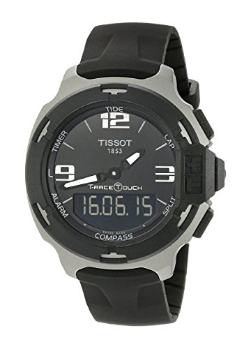ティソ 腕時計 メンズ T0814209705701 【送料無料】Tissot Men's T0814209705701 T-race touch Analog-Digital Display Swiss Quartz Black Watchティソ 腕時計 メンズ T0814209705701