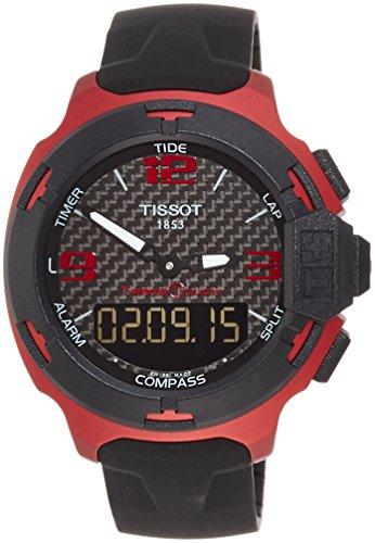 ティソ 腕時計 メンズ T0814209720700 【送料無料】Tissot T-Race Touch Aluminium Black Dial Black Silicon Mens Sports Watch T0814209720700ティソ 腕時計 メンズ T0814209720700
