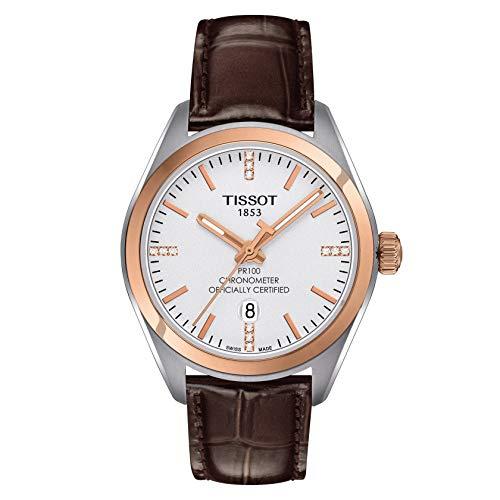ティソ 腕時計 レディース 【送料無料】Tissot PR 100 COSC Silver Dial Ladies Watch T101.251.26.036.00ティソ 腕時計 レディース