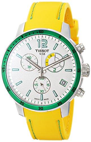 ティソ 腕時計 メンズ T0954491703701 Tissot Men's T0954491703701 Quickster Analog Display Swiss Quartz Yellow Watchティソ 腕時計 メンズ T0954491703701