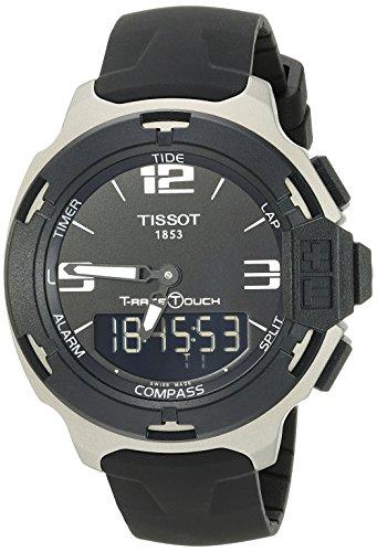 ティソ 腕時計 メンズ T0814209705701 【送料無料】Tissot Men's T0814209705701 T-Race Black Dial Rubber Strap Watchティソ 腕時計 メンズ T0814209705701