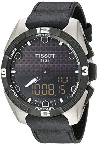 腕時計 ティソ メンズ T0914204605100 【送料無料】Tissot Men's T091.420.46.051.00 'T Touch Expert' Black Dial Black Leather Strap Multifunction Swiss Quartz Watch腕時計 ティソ メンズ T0914204605100