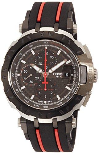 ティソ 腕時計 メンズ T0924272720100 【送料無料】Tissot T-Race Black Dial Silicone Strap Men's Watch T0924272720100ティソ 腕時計 メンズ T0924272720100