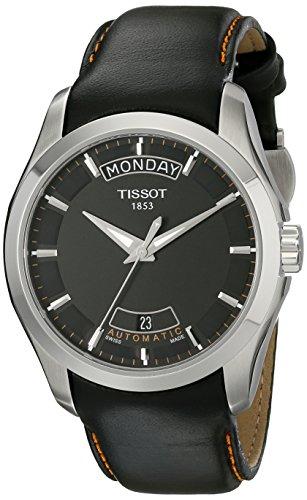 腕時計 ティソ メンズ T0354071605101 【送料無料】Tissot Men's T0354071605101 T-Trend Couturier Black Day Date Dial Watch腕時計 ティソ メンズ T0354071605101