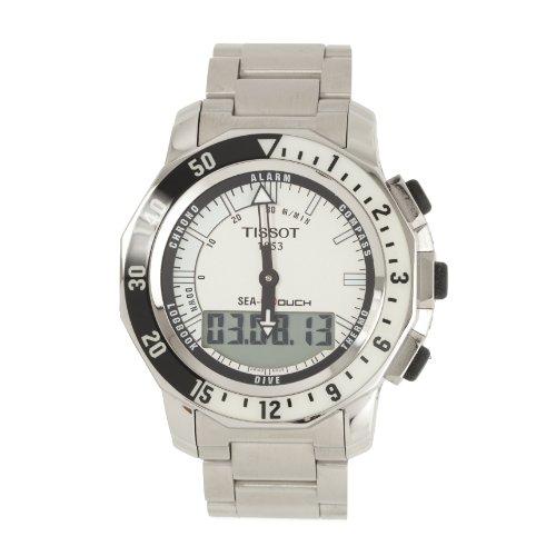 腕時計 ティソ メンズ T0264201103100 【送料無料】Tissot Men's T0264201103100 Sea Touch Quartz Chronograph Touch Screen White Dial Watch腕時計 ティソ メンズ T0264201103100
