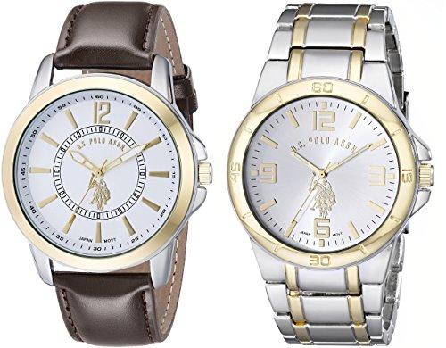 ユーエスポロアッスン 腕時計 メンズ USC2254 【送料無料】U.S. Polo Assn. Classic Men's USC2254 Set of Two Two-Tone Watchesユーエスポロアッスン 腕時計 メンズ USC2254