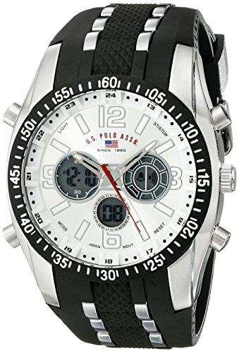 ユーエスポロアッスン 腕時計 メンズ US9061 【送料無料】U.S. Polo Assn. Sport Men's US9061 Watch with Black Rubber Strap Watchユーエスポロアッスン 腕時計 メンズ US9061