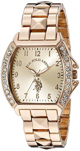 ユーエスポロアッスン 腕時計 レディース USC40074 【送料無料】U.S. Polo Assn. Women's USC40074 Rose Gold-Tone Bracelet Watchユーエスポロアッスン 腕時計 レディース USC40074