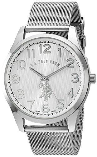 ユーエスポロアッスン 腕時計 メンズ USC80374 U.S. Polo Assn. Classic Men's Quartz Metal and Alloy Watch, Color:Silver-Toned (Model: USC80374)ユーエスポロアッスン 腕時計 メンズ USC80374