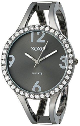 クスクス キスキス 腕時計 レディース XO1093 【送料無料】XOXO Women's XO1093 Black Dial Gun Metal Bangle Watchクスクス キスキス 腕時計 レディース XO1093