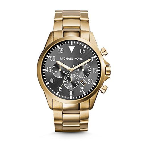 マイケルコース 腕時計 メンズ マイケル・コース アメリカ直輸入 MK8361 【送料無料】Michael Kors Gage Chronograph Black Dial Gold-Tone Mens Watch MK8361マイケルコース 腕時計 メンズ マイケル・コース アメリカ直輸入 MK8361