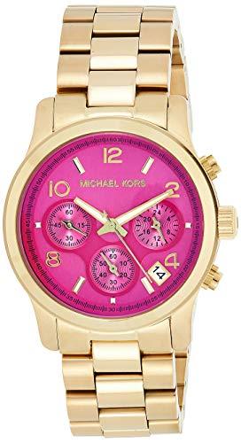 【即納】【送料無料】マイケルコース Michael Kors レディース腕時計 MK5939 ランウェイ クロノグラフ ゴールドトーン ピンク&オレンジ偏光カラー ケースサイズ38mm
