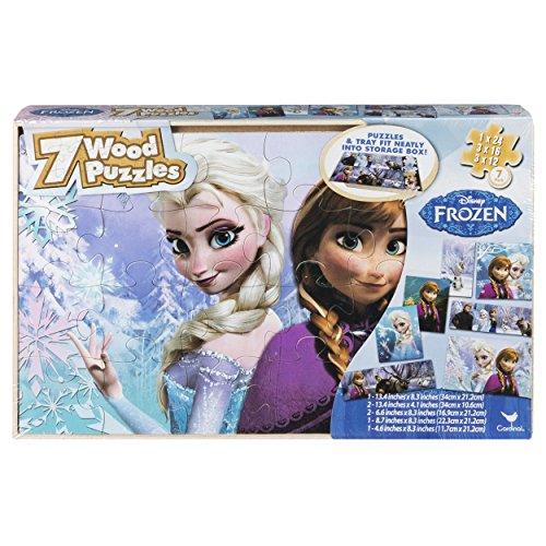 アナと雪の女王 アナ雪 ディズニープリンセス フローズン 6029932 Disney Frozen 7 Wood Puzzles in Wooden Storage Box (Styles Will Vary)アナと雪の女王 アナ雪 ディズニープリンセス フローズン 6029932