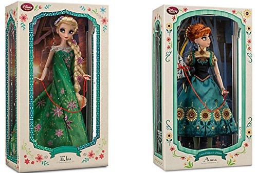 アナと雪の女王 アナ雪 ディズニープリンセス フローズン Disney - Limited Edition Anna Doll and Elsa Doll Set From Frozen Fever - 17'' Each - New in Boxアナと雪の女王 アナ雪 ディズニープリンセス フローズン