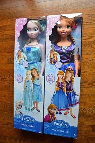 アナと雪の女王 アナ雪 ディズニープリンセス フローズン DISNEY FROZEN MY SIZE ELSA AND ANNA DOLLアナと雪の女王 アナ雪 ディズニープリンセス フローズン