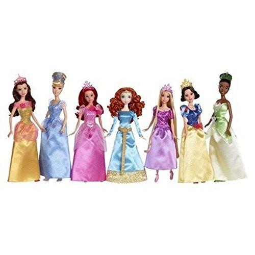 ディズニープリンセス Ultimate Disney Princess Collection, 7 Dolls: Belle, Cinderella, Ariel, Merida, Rapunzel, Snow White & Tianaディズニープリンセス