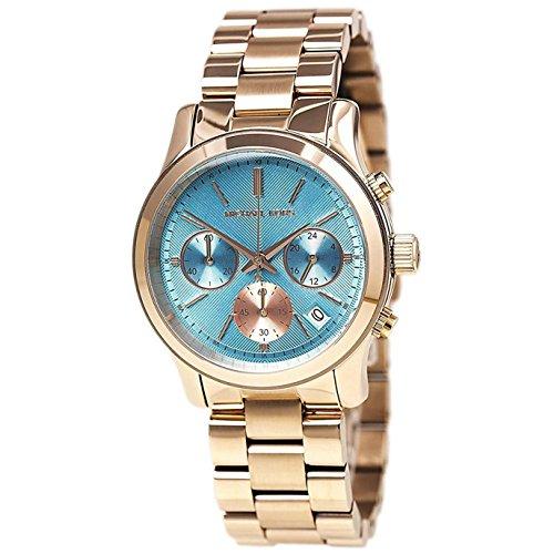 マイケルコース 腕時計 レディース マイケル・コース アメリカ直輸入 【送料無料】Michael Kors Blue Dial Rose Gold Tone SS Chronograph Quartz Ladies Watch MK6164マイケルコース 腕時計 レディース マイケル・コース アメリカ直輸入