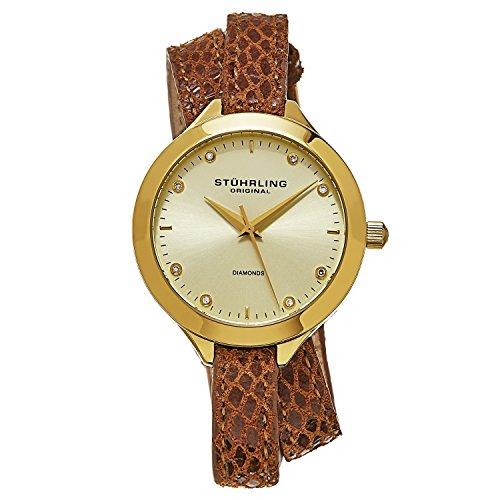 ストゥーリングオリジナル 腕時計 レディース 624.03 Stuhrling Original Women's 624.03 Vogue Swiss Quartz Diamond Double Wrap Gold Watchストゥーリングオリジナル 腕時計 レディース 624.03