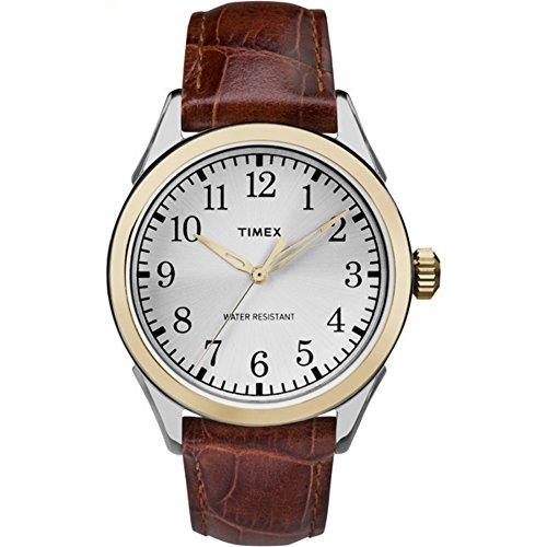 腕時計 タイメックス メンズ TW2P99500 【送料無料】Timex Men's TW2P99500 Briarwood Terrace Brown Croco Pattern Leather Strap Watch腕時計 タイメックス メンズ TW2P99500