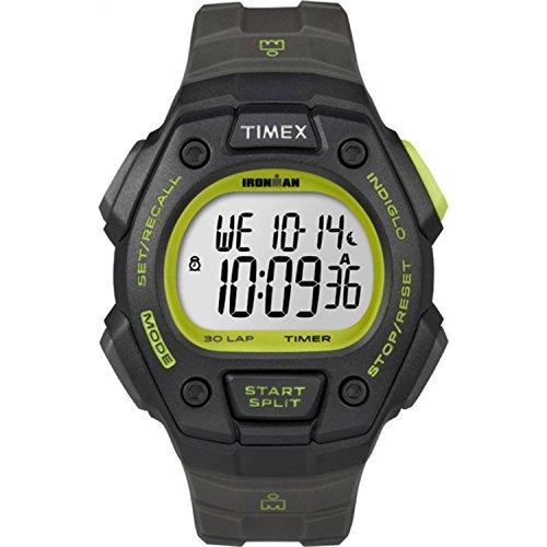 タイメックス 腕時計 メンズ T5K824 Timex Men's T5K824 Ironman Classic 30 Full-Size Gray/Black/Green Resin Strap Watchタイメックス 腕時計 メンズ T5K824