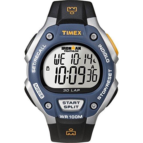 タイメックス 腕時計 メンズ T5E931 Timex Men's Ironman | 30-Lap Full Size Blue Bezel Black Strap Sport Watch T5E931タイメックス 腕時計 メンズ T5E931