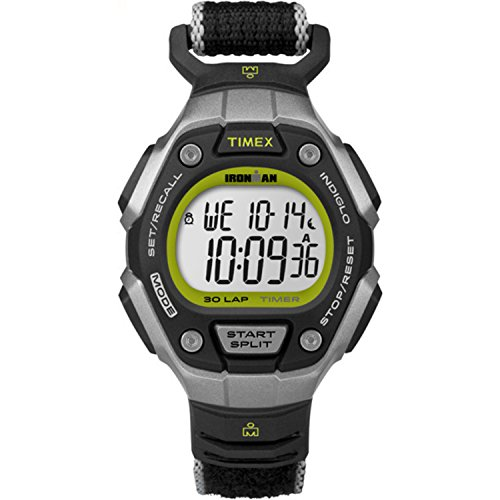 タイメックス 腕時計 レディース TW5K89800 Timex Women's Ironman 30-Lap Digital Quartz Mid-Size Watch, Black/Silver-Tone/Lime - TW5K89800タイメックス 腕時計 レディース TW5K89800
