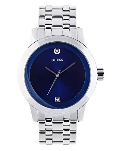 ゲス GUESS 腕時計 メンズ U11576G2 GUESS Factory Blue and Silver-Tone Diamond Dress Watchゲス GUESS 腕時計 メンズ U11576G2