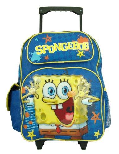 スポンジボブ バッグ バックパック リュックサック カートゥーンネットワーク 18227 Spongebob Squarepants Large Rolling Backpackスポンジボブ バッグ バックパック リュックサック カートゥーンネットワーク 18227