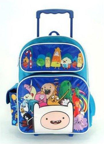 アドベンチャータイム バッグ バックパック リュックサック カートゥーンネットワーク Full Size Blue Adventure Time Cast with 3D Finn Rolling Backpackアドベンチャータイム バッグ バックパック リュックサック カートゥーンネットワーク
