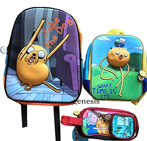 アドベンチャータイム バッグ バックパック リュックサック カートゥーンネットワーク Adventure Time 3D Backpack Jake & Fin,