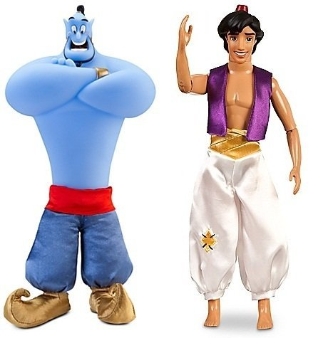 アラジン ジャスミン ディズニープリンセス Aladdin and Genie Dolls 12''アラジン ジャスミン ディズニープリンセス