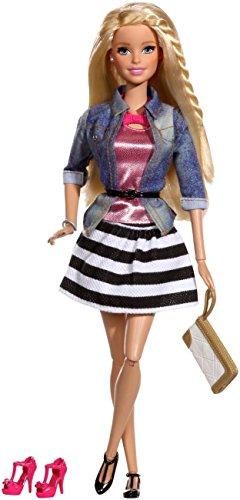 バービー バービー人形 バービースタイル CFM75 Barbie Style Doll, Jean Jacket and Black/White Skirtバービー バービー人形 バービースタイル CFM75