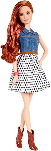 バービー バービー人形 ファッショニスタ 日本未発売 CJY41 Barbie Fashionista Teresa Doll Jean Shirt and Black and White Skirtバービー バービー人形 ファッショニスタ 日本未発売 CJY41