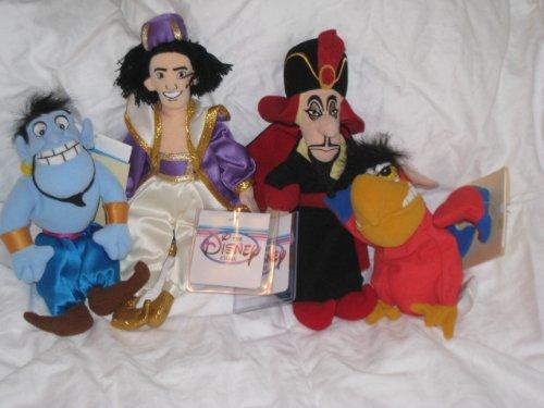 アラジン ジャスミン ディズニープリンセス 【送料無料】Disney - Aladdin mini bean bag plush set - Aladdin, Genie, Jafar and Iago (4 pc set)アラジン ジャスミン ディズニープリンセス