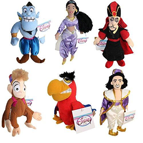 アラジン ジャスミン ディズニープリンセス Aladdin Six Piece Bean Bag Set with Aladdin, Jasmine, Iago, Genie, Jafr and Abuアラジン ジャスミン ディズニープリンセス