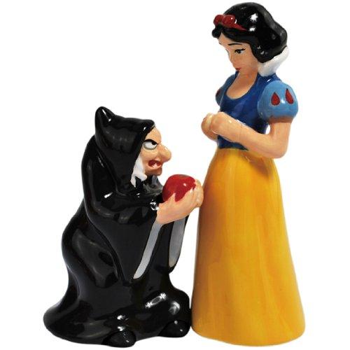 白雪姫 スノーホワイト ディズニープリンセス 24204 Westland Giftware Magnetic Ceramic Salt and Pepper Shaker Set, 4.5-Inch, Disney Snow White and Evil Queen, Set of 2白雪姫 スノーホワイト ディズニープリンセス 24204