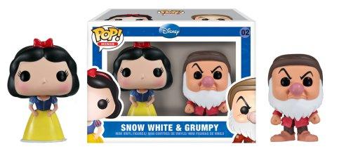 白雪姫 スノーホワイト ディズニープリンセス 2802 Funko Mini Pop Figures - Snow White and Grumpy白雪姫 スノーホワイト ディズニープリンセス 2802