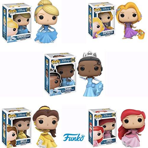 塔の上のラプンツェル タングルド ディズニープリンセス Pop!: Disney Princess: Ariel, Belle, Cinderella, Rapunzel, and Tiana Vinyl Figures! Set of 5塔の上のラプンツェル タングルド ディズニープリンセス