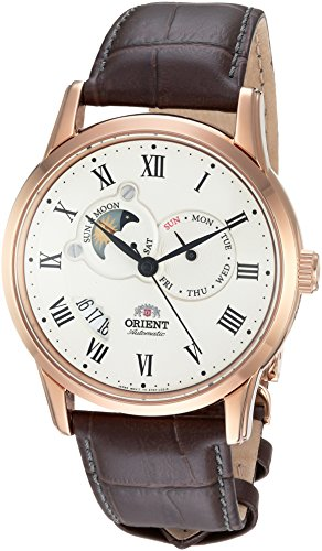 腕時計 オリエント メンズ FET0T001W0 【送料無料】Orient Men's FET0T001W0 Sun and Moon Analog Display Japanese Automatic Brown Watch腕時計 オリエント メンズ FET0T001W0