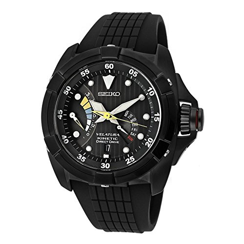 セイコー 腕時計 メンズ メンズ SRH013 Seiko Watchセイコー Men's SRH013 Velatura Strap Kinetic Direct Drive Black Dial Black Rubber Strap Watchセイコー 腕時計 メンズ SRH013, 上州屋梅店:6174b6e7 --- 2017.goldenesbrett.at