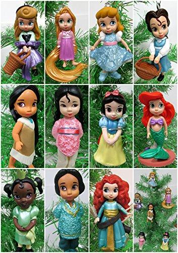 ディズニープリンセス 【送料無料】Disney Toddler Baby Princess Set of 11 Christmas Tree Ornaments with Merida, Ariel, Snow White, Rapunzel, Mulan, Jasmine, Cinderellaディズニープリンセス