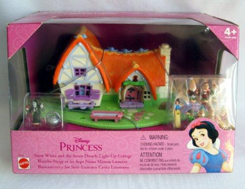 白雪姫 スノーホワイト ディズニープリンセス POLLY POCKET SNOW WHITE Doll & the 7 Dwarfs LIGHT UP COTTAGE白雪姫 スノーホワイト ディズニープリンセス