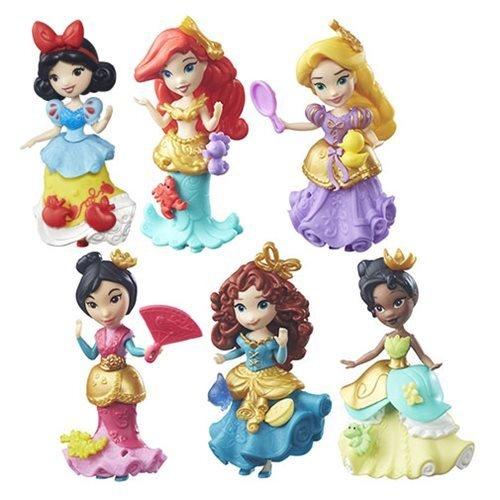ディズニープリンセス 【送料無料】Set of 6: Disney Princess Little Kingdom Classic Dolls - Ariel, Snow White, Rapunzel, Merida, Tiana, Mulanディズニープリンセス