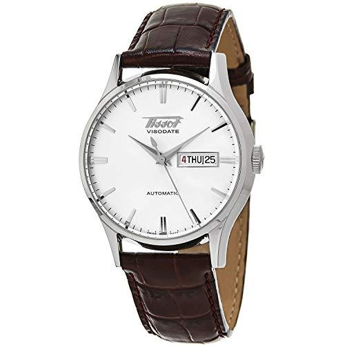 ティソ 腕時計 メンズ T0194301603101 【送料無料】Tissot Visodate White Dial SS Leather Automatic Men's Watch T0194301603101ティソ 腕時計 メンズ T0194301603101