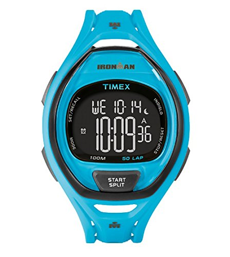 タイメックス 腕時計 レディース TW5M019009J 【送料無料】Timex Ironman Sleek 50 Full-Size Watch - Neon Blueタイメックス 腕時計 レディース TW5M019009J