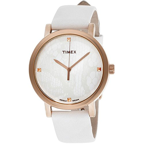 タイメックス 腕時計 レディース T2P460 【送料無料】Timex Originals White Dial Leather Strap Ladies Watch T2P460タイメックス 腕時計 レディース T2P460
