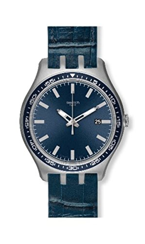 スウォッチ 腕時計 メンズ Swatch Unisex Irony YTS408 Blue Leather Quartz Watch with Blue Dialスウォッチ 腕時計 メンズ