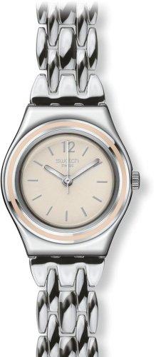 スウォッチ 腕時計 レディース YSS285G 【送料無料】Swatch Classic Discretly Cream Dial Stainless Steel Ladies Watch YSS285Gスウォッチ 腕時計 レディース YSS285G