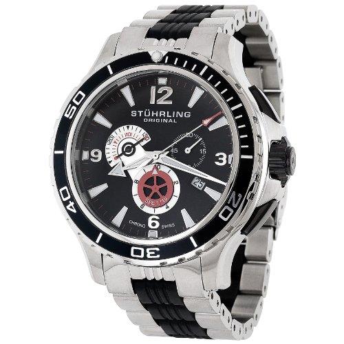 ストゥーリングオリジナル 腕時計 メンズ 270.332D71 Stuhrling Original Men's 270.332D71 Exclusive Trekker Sportsman Swiss Chronograph Black Dial Watchストゥーリングオリジナル 腕時計 メンズ 270.332D71